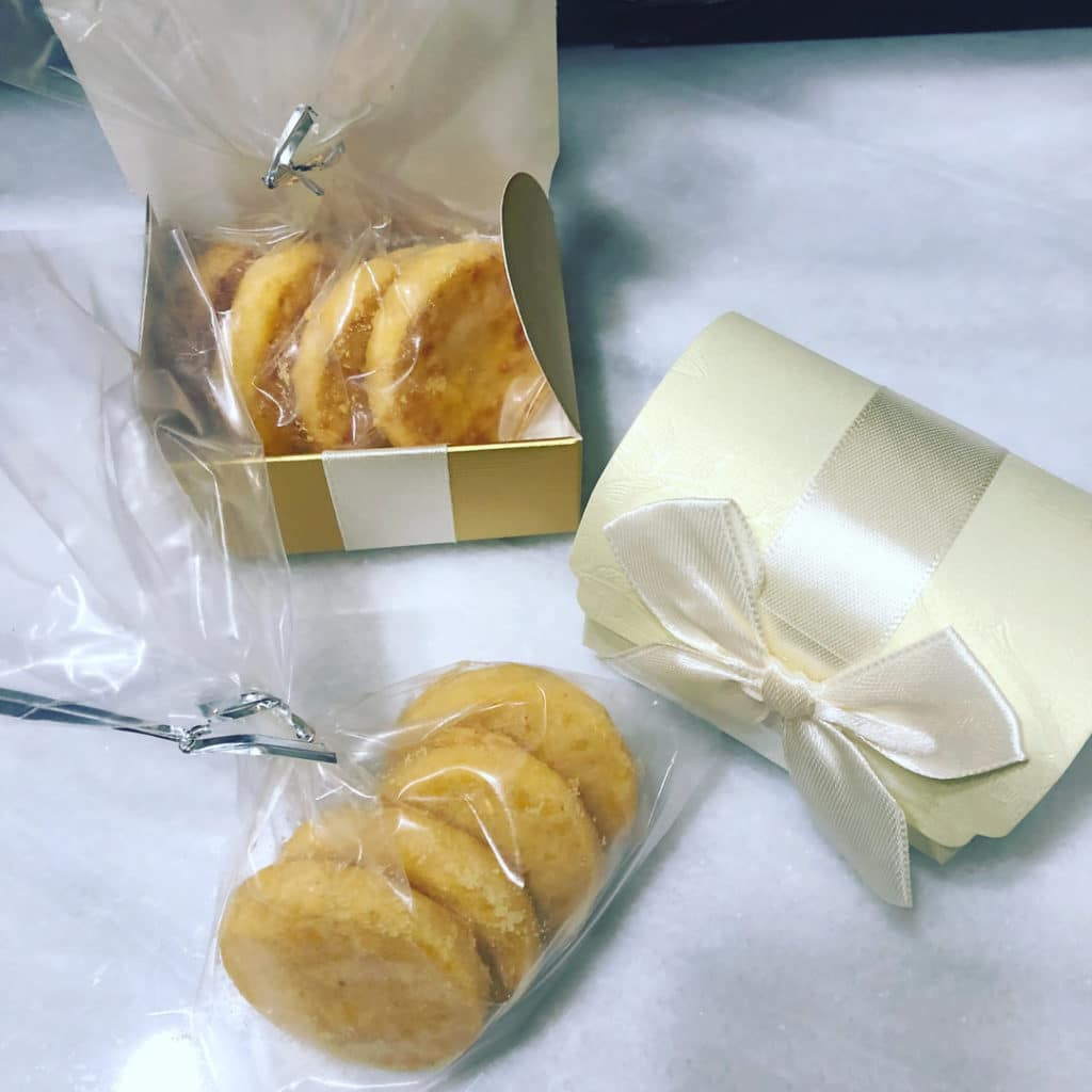 Our savory Southern Cheese Wafers and Cheese Straws make the perfect wedding favor or appetizer.